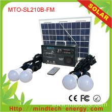 Home Radio LED Bulb Photovoltaic Solar System Kit